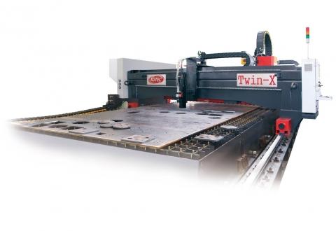 Máy khoan cắt thép tấm CNC TWINX Kotec Hàn Quốc